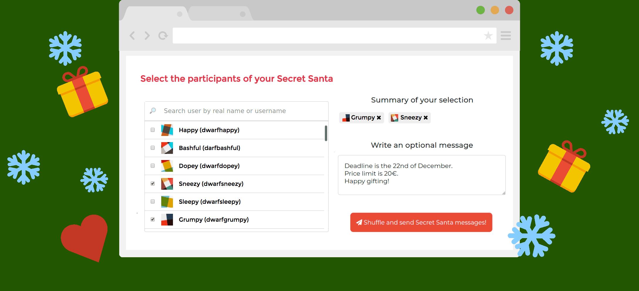 Secret Santa App - The Secret Santa bot for your Slack or