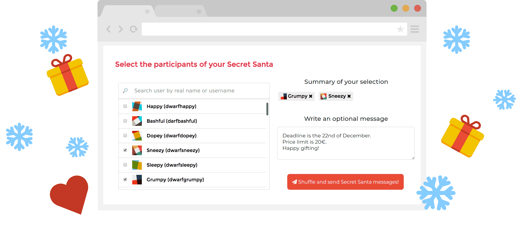 Secret Santa App The Secret Santa Bot For Your Slack Or Discord Team